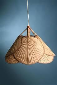 Paper Light Fixtures Asian Fan Lamp Unique Lighting Fixture Eclectic Oriental