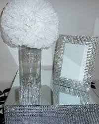 silver frames for wedding table numbers 5x7 silver bling rhinestone wedding frame table number glamorous