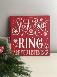 christmas wood sign sleigh bells ring sign christmas decor