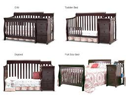 Sorelle Tuscany 4 In 1 Convertible Crib And Changer Combo Sorelle Crib And Changer Sorelle Tuscany Convertible Crib Changer