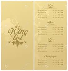 design templates menu sample wine menu design templates vectors