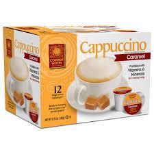 cappuccino copper moon instakup k cup caramel cappuccino 12ct