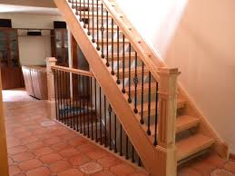 Installing Banister Wood Stairs And Rails And Iron Balusters August 2010