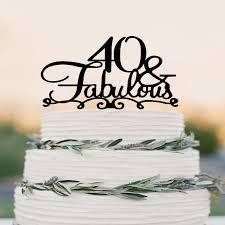 b cake topper 40 birthday cake topper
