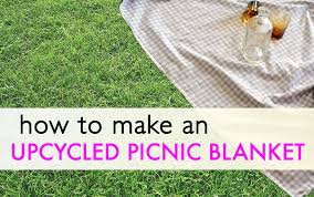 Outdoor Picnic Rug Diy How To Sew Your Own Adorable Recycled Picnic Blanket
