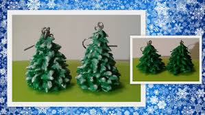 clay christmas tree earrings crafting tutorial by honeybeads1