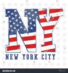 New Yorks Flag New York Flag Typography Tshirt Graphics Stock Vector 224273626