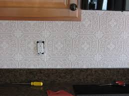 Textured Paintable Wallpaper by Fake It Frugal Fake Punched Tin Backsplash