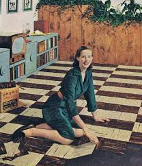 Retro Linoleum Floor Patterns by Vintage Linoleum 1940s Linoleum Patterns And A Kitchen