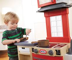 Play Kitchen Red Amazon Com Little Tikes Cook U0027n Store Kitchen Playset Red Toys