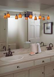 pretty looking track lighting for bathroom vanity over light