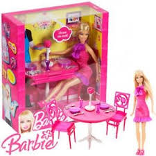 barbie dining room barbie dinner date night dining room set and doll table for sale