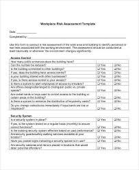 assessment templates risk assessment checklist template best resumes