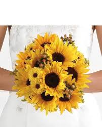 Sunflower Wedding Bouquet Sunflower Bridal Bouquet In Tampa Fl The Gift Factory
