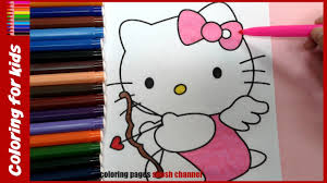 valentines day coloring pages hello kitty love angel from coloring