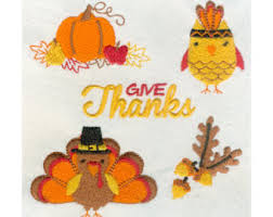 thanksgiving embroidery designs etsy