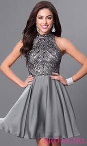 milano formals silver homecoming dress promgirl