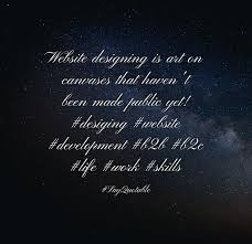 quote about website designing is art on canvases that haven u0027t been