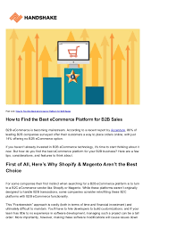 Magento B2b E Commerce Platform B2c E Commerce Best Ecommerce Platform For B2b Ordering