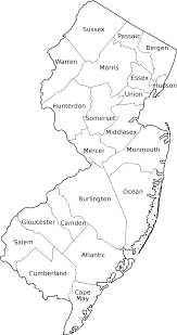 Map Of Essex County Nj Map Of New Jersey Counties 2015 Google Search Map Skills