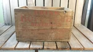 hope club beverage wooden shipping crate vintage wood box