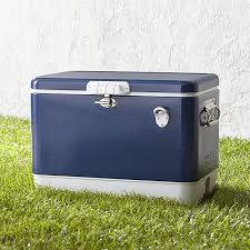coleman metal cooler crate and barrel
