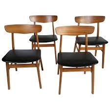 Danish Modern Dining Room Chairs Set Of 6 Teak Danish Modern Slat Back Dining Room Chairs Set Of 6