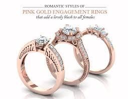 pink rings gold images Pink gold wedding rings rose gold pink diamond wedding rings jpg