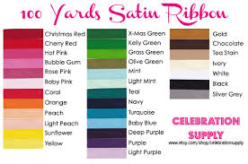 ribbon bulk new at the celebration supply shop 100 yard bolts of satin ribbon