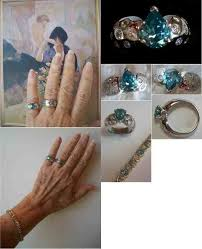 blue green rings images Blue green diamond engagement rings jewelry ideas jpg