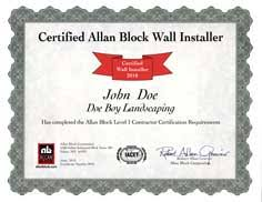 Construction Estimating Certification by Contractor Certification Program Retaining Wall And Fence