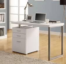 image of white corner desk color
