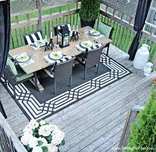 Decorating Decks And Patios Summer Deck Decor Setting For Four