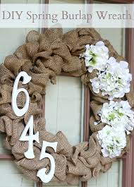 diy burlap wreath domestic