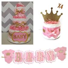 pink and gold baby shower decorations princess baby shower party box pink and gold baby shower
