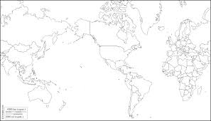 World Map Blank Map by World America Centered Free Map Free Blank Map Free Outline Map