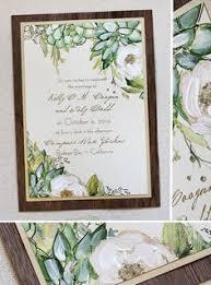 Succulent Wedding Invitations A Peek Into The Studio Watercolor Day Of Wedding Menus Programs