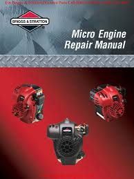 briggs u0026 stratton micro force eng service manual piston gasoline