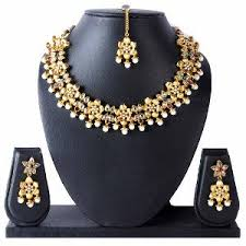 gold jewellery necklace sets images Gold plated necklace set by luxor necklace sets homeshop18 jpg