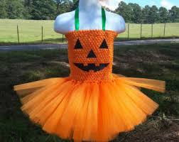 Girls Pumpkin Halloween Costume Pumpkin Costume Etsy