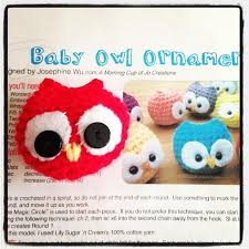 look what ive made projects crochet baby owl ornament