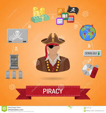 piracy concept with pirate stock vector image 67911101
