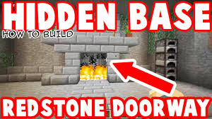 hidden fireplace base minecraft how to red stone doorway