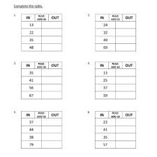 input and output tables input and output tables worksheets worksheets for all download and