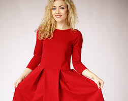 work dress long sleeves dress formal dress fit and flare