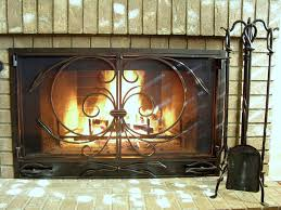 pembroke hand forged arch top fireplace screen custom hand forged