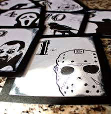 halloween horror wedding table number gothic fun black and