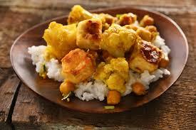 curried cauliflower chickpeas and tofu recipe chowhound
