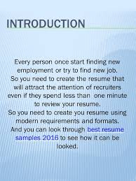 Best Resume Format For Job How To Create Good Resume Resume Examples Ppt Video Online Download