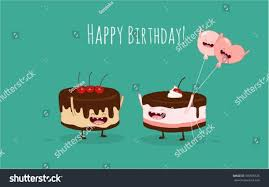 happy birthday card funny birthday cake stock vector 370505525
